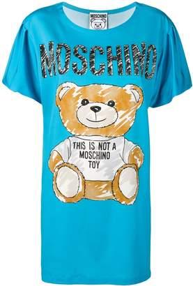Moschino teddy bear print T-shirt dress