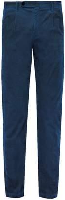 Massimo Alba Watercolour Cotton Corduroy Trousers - Mens - Blue