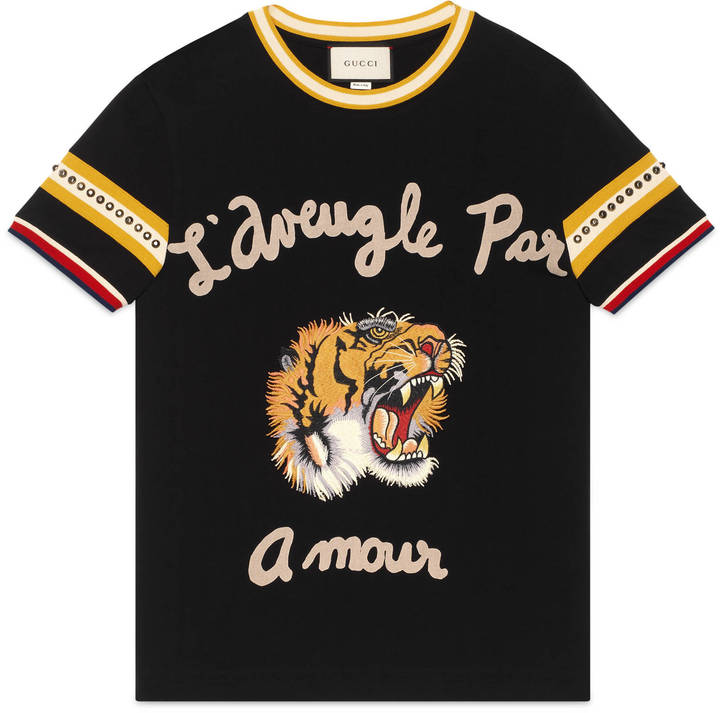 Cotton t-shirt with tiger