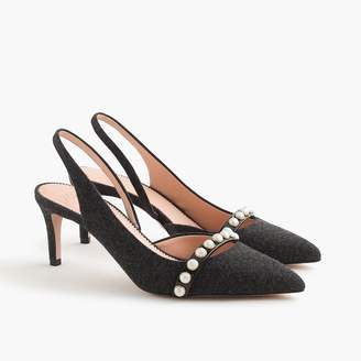 J.Crew Colette slingback d'Orsay pumps with pearls