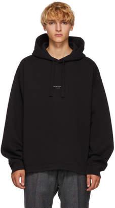 Acne Studios Black Distressed Logo Hoodie