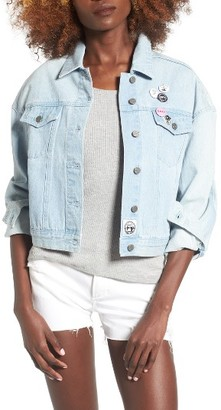 Women's Obey Lemmy Denim Jacket $99 thestylecure.com