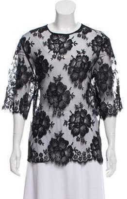 Stella McCartney Lace Short Sleeve Top