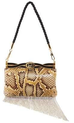 Gucci Broadway Crystal Tassel Python Bag - Womens - Python