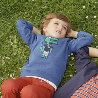 Lacoste (ラコステ) - Boys ワニ インディゴフリース クルーネックスウェットシャツ