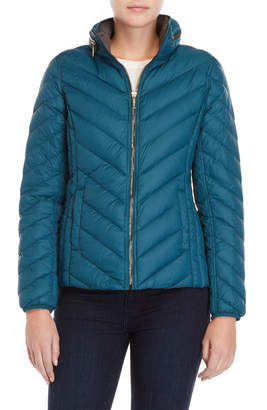MICHAEL Michael Kors Chevron Quilted Down Jacket