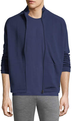 Z Zegna 2264 Z Zegna Full-Zip Stand-Collar Sweater