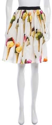 Dolce & Gabbana Printed Knee-Length Skirt White Printed Knee-Length Skirt