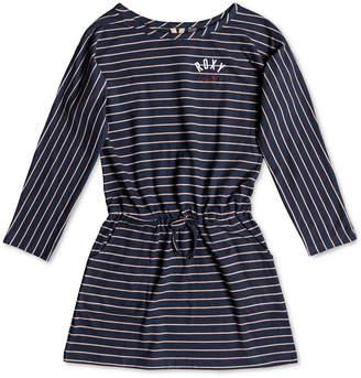 Roxy Big Girls Long-Sleeve Striped Cotton Dress