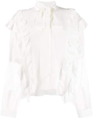 Faith Connexion lace panelled silk blouse