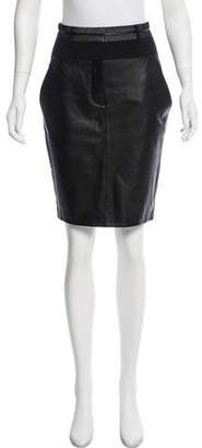 Alexander Wang Leather-Accented Pencil Skirt