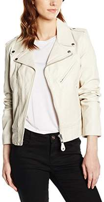 Schott NYC Women's Perfecto Biker Jacket Without Belt Long Sleeve Jacket,Large