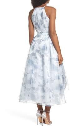 Eliza J Belted Halter High/Low Dress