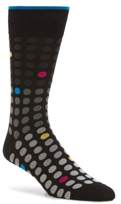 Men's Bugatchi Polka Dot Crew Socks $19.95 thestylecure.com
