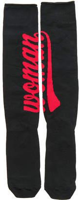 Off-White Long Woman Logo Socks