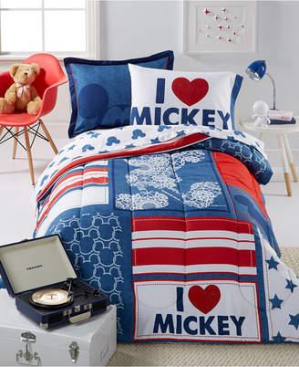 Disney Disney's Mickey Americana Twin 5 Piece Comforter Set Bedding