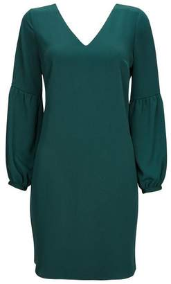 Wallis Petite Forest Green Balloon Sleeve Shift Dress