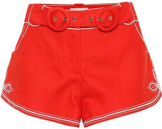 Zimmermann Ninety-Six linen shorts