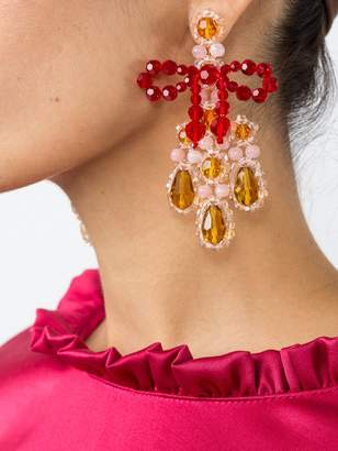 Simone Rocha Bow chandelier earrings