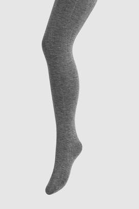 Next Womens Grey Knitted Tights Two Pack - Grey