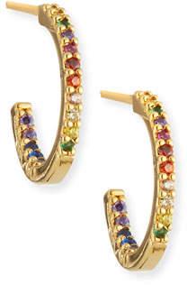 Tai Small Rainbow Huggie Hoop Earrings