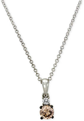 LeVian Le Vian Chocolatier Diamond Pendant (1/3 ct. t.w.) in 14k White Gold