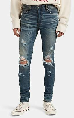 Amiri Men's Thrasher Distressed Slim Jeans - Blue
