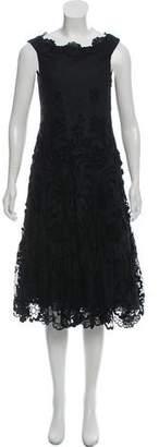 Anna Sui Lace Midi Dress