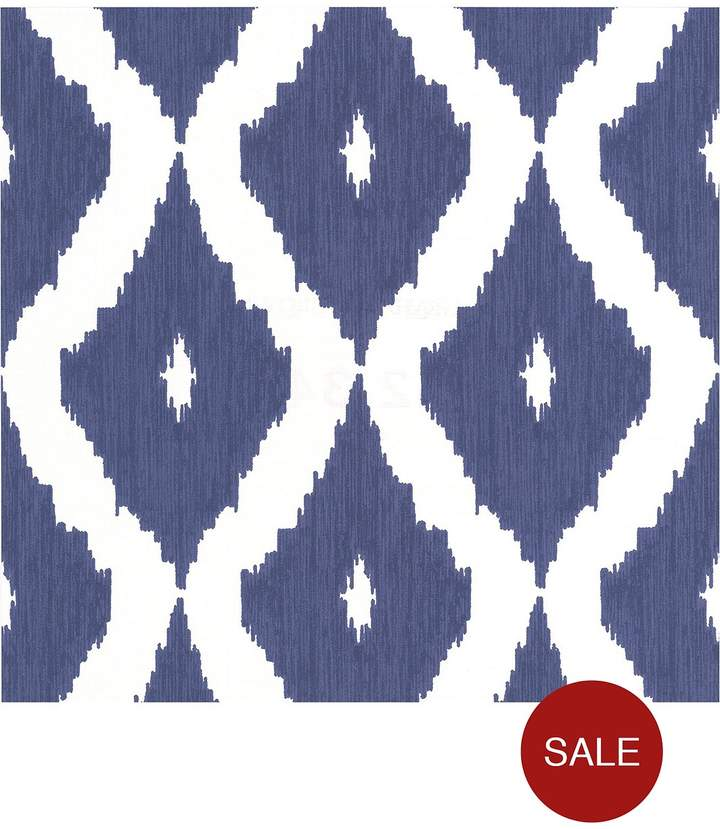 Kelly Hoppen Kelly Hoppen Kelly's Ikat Wallpaper - White And Blue