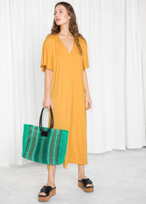 And other stories V Neck Midi Shirt Dress