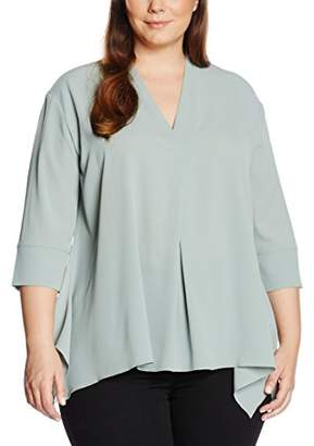 Via Appia Women's Bluse V-Ausschnitt 3/4 ARM Blouse,46 (EU)