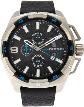 Diesel DZ4392 Silver-Tone & Black Watch