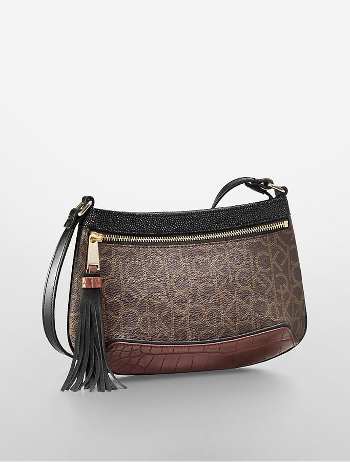 Hudson Colorblock Tassel Accent Crossbody Bag