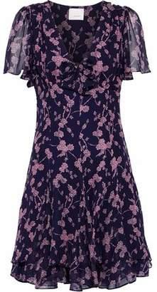 Cinq à Sept Annali Bow-Embellished Floral-Print Silk-Chiffon Mini Dress