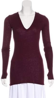 Enza Costa V-Neck Long Sleeve Sweater