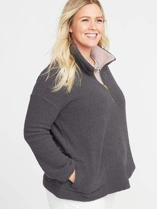 Old Navy Sherpa 1/4-Zip Plus-Size Pullover