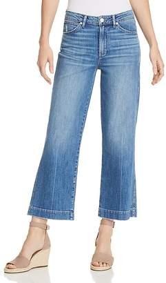 Paige Nellie Wide-Leg Jeans in Indigo/Pink
