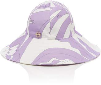 1a61b3b902169 Emilio Pucci Printed Wide-Brimmed Bucket Hat