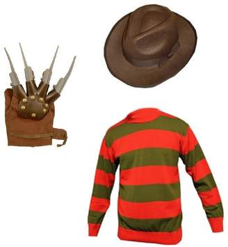 Freddy Fashion Oasis Mens Halloween Krueger Style Horror Fancy Dress Claw Set