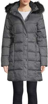 Dorothy Perkins Quilted Faux Fur Trimmed Puffer Jacket