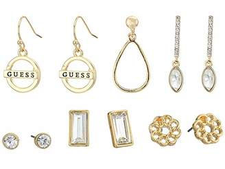 GUESS 6-Pair Studs and Dainty Drop Earrings