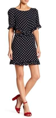 Lucca Couture Short Sleeve Polka Dot Ruffle Dress