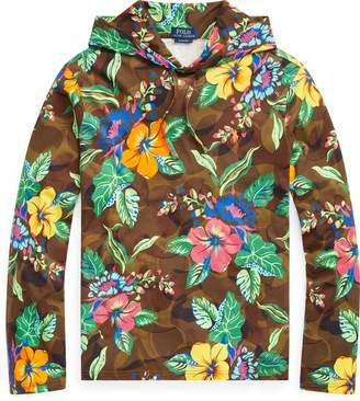Ralph Lauren Floral-Camo Hooded T-Shirt