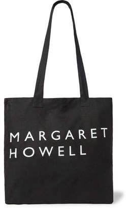 Printed Linen Tote Bag