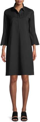 Lafayette 148 New York Lunella Stretch-Cotton Shirt Dress