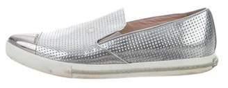 Miu Miu Metallic Slip-On Sneakers