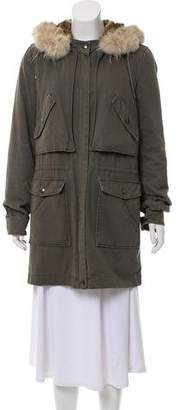 Yves Salomon Army by Fur Lined Utility Coat