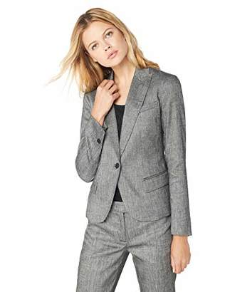 Anne Klein Women's ONE Button Peak Lapel Jacket