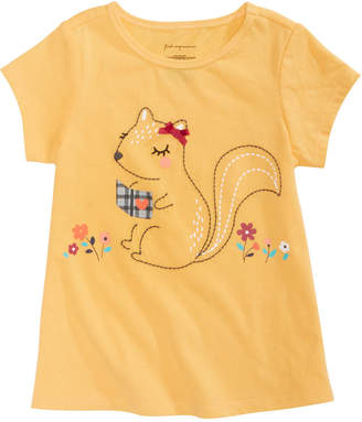 First Impressions Baby Girls Squirrel Graphic Top, Created for Macy's