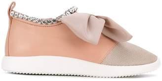 Giuseppe Zanotti Design panel bow sneakers